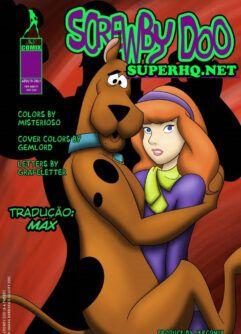 Scooby Doo dando um trato na Daphne