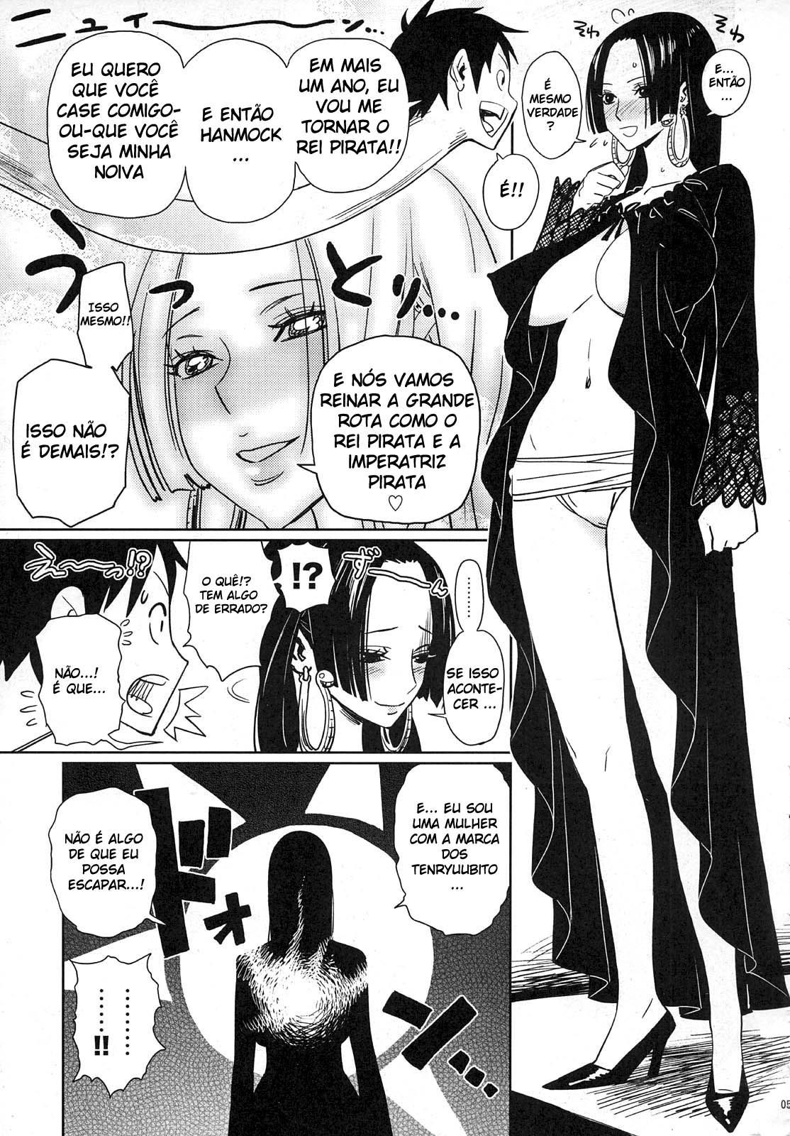 Luffy pede Boa Hancock em casamento - Foto 3