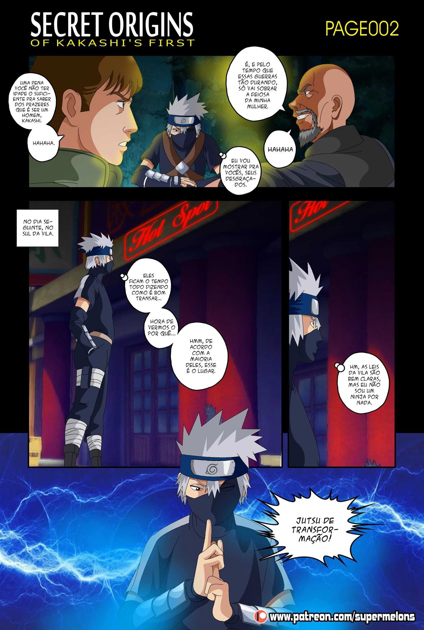 Naruto Pornô: Kakashi o ninja virgem - Foto 2