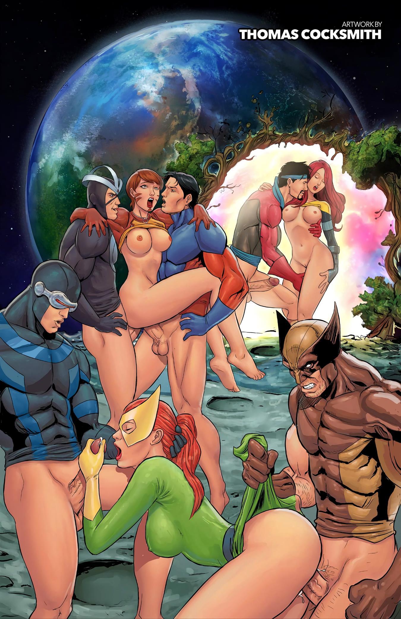 Quadrinhos de sexo X-Men - Foto 10