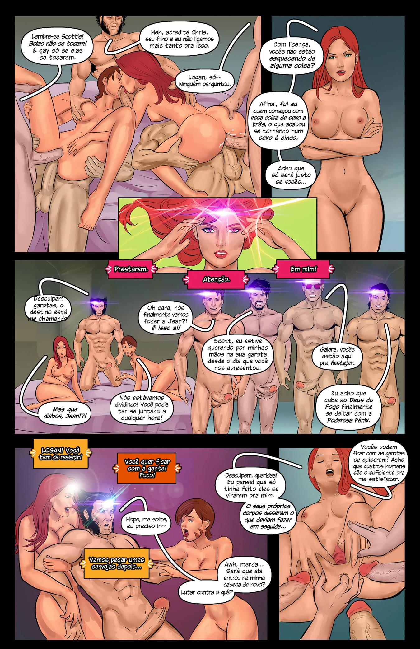 Quadrinhos de sexo X-Men - Foto 8