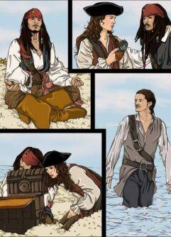 Quadrinhos de sexo Piratas do Caribe