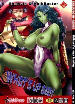 Homem de Ferro comendo à She-Hulk