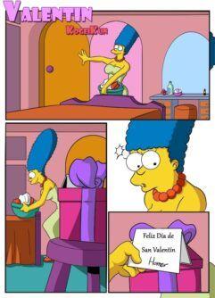 Marge com tesão no dia de São Valentin