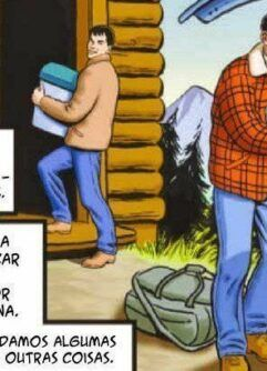 Na cabana com papai