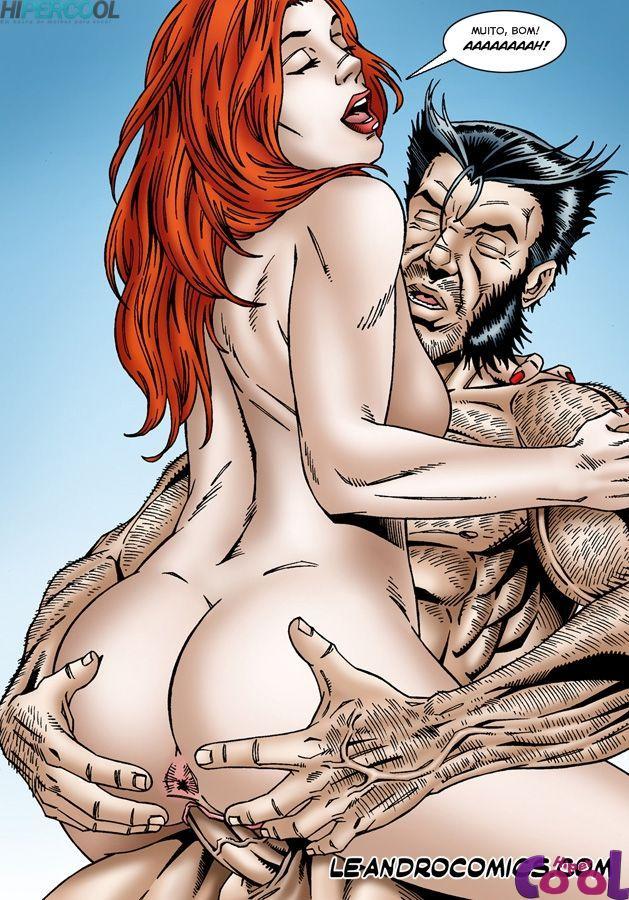 X-Men Pornô: Jean Grey com tesão
