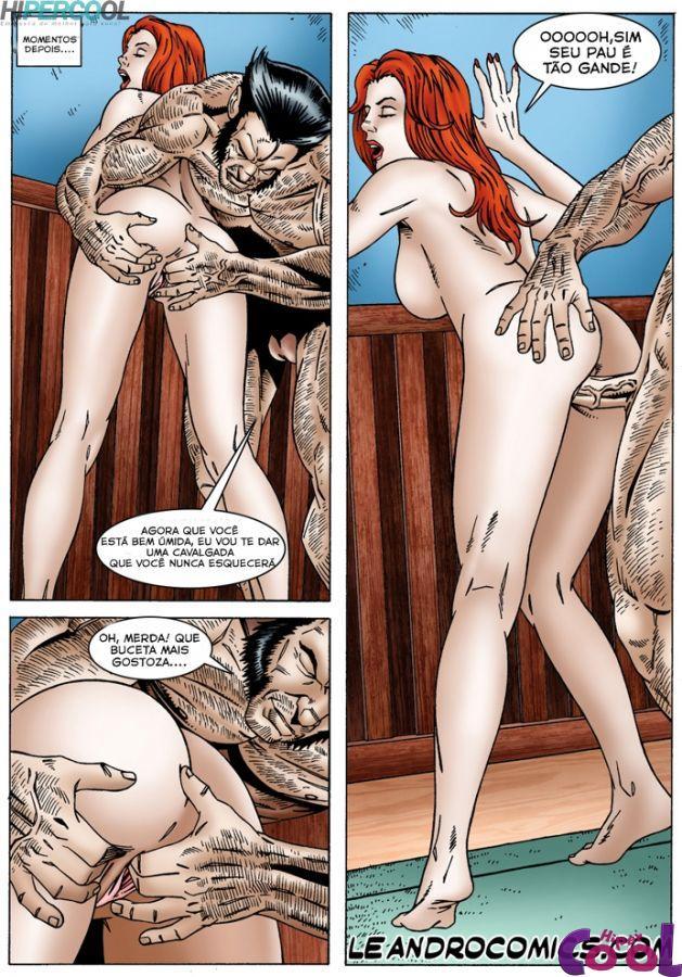 X-Men Pornô: Jean Grey com tesão - Foto 17