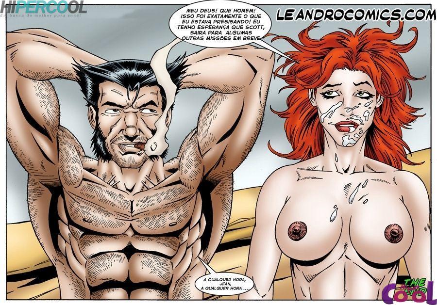 X-Men Pornô: Jean Grey com tesão - Foto 2
