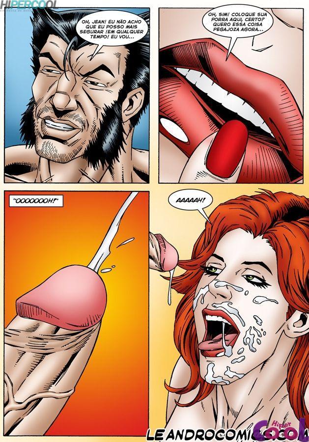 X-Men Pornô: Jean Grey com tesão - Foto 23