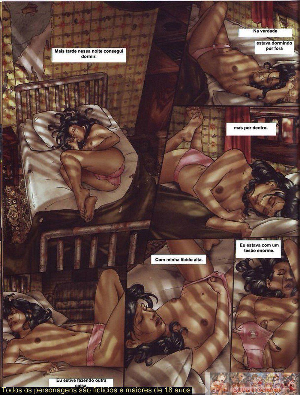 Quadrinhos de sexo tesão de transexual - Foto 1