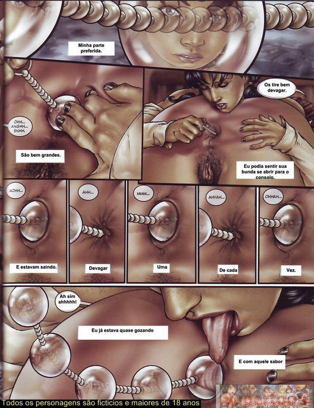 Quadrinhos de sexo tesão de transexual - Foto 12