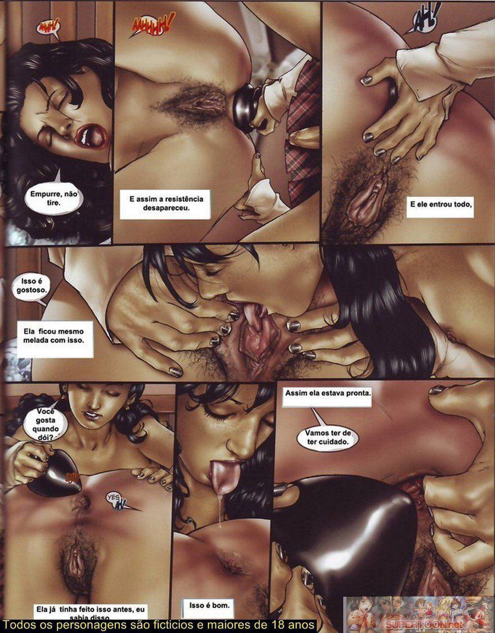 Quadrinhos de sexo tesão de transexual - Foto 14