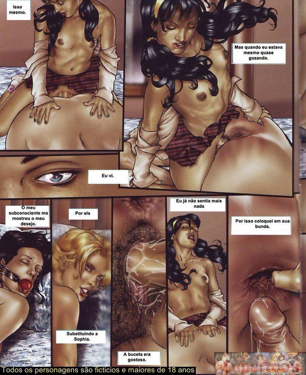 Quadrinhos de sexo tesão de transexual - Foto 17