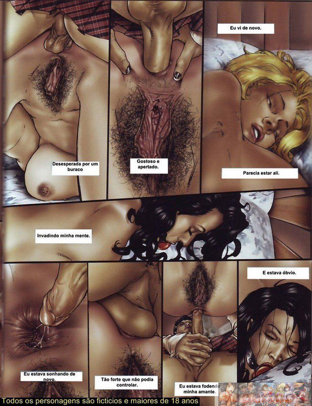 Quadrinhos de sexo tesão de transexual - Foto 18