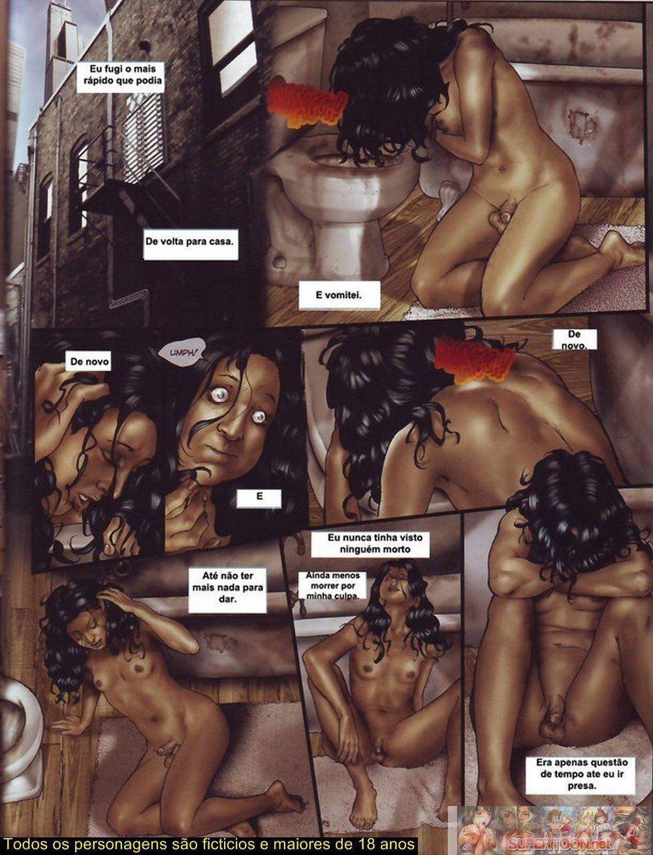 Quadrinhos de sexo tesão de transexual - Foto 22