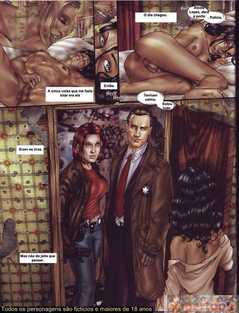Quadrinhos de sexo tesão de transexual - Foto 23