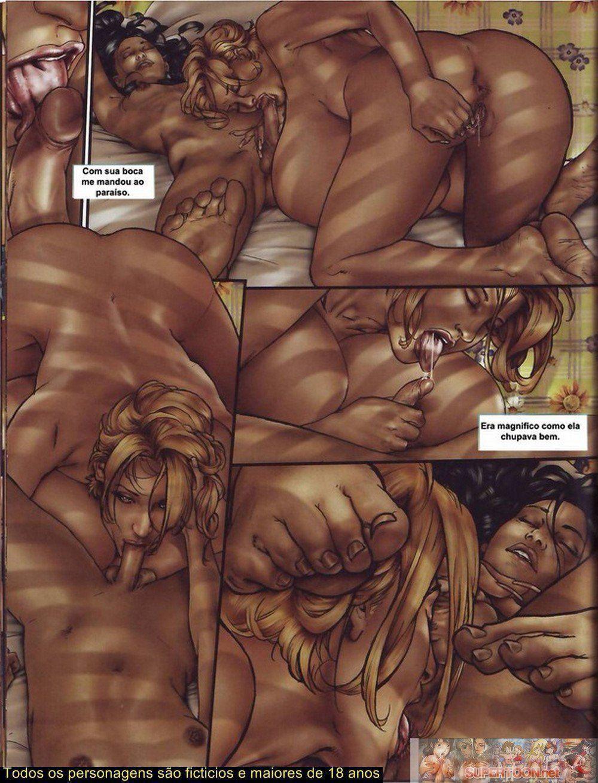 Quadrinhos de sexo tesão de transexual - Foto 3