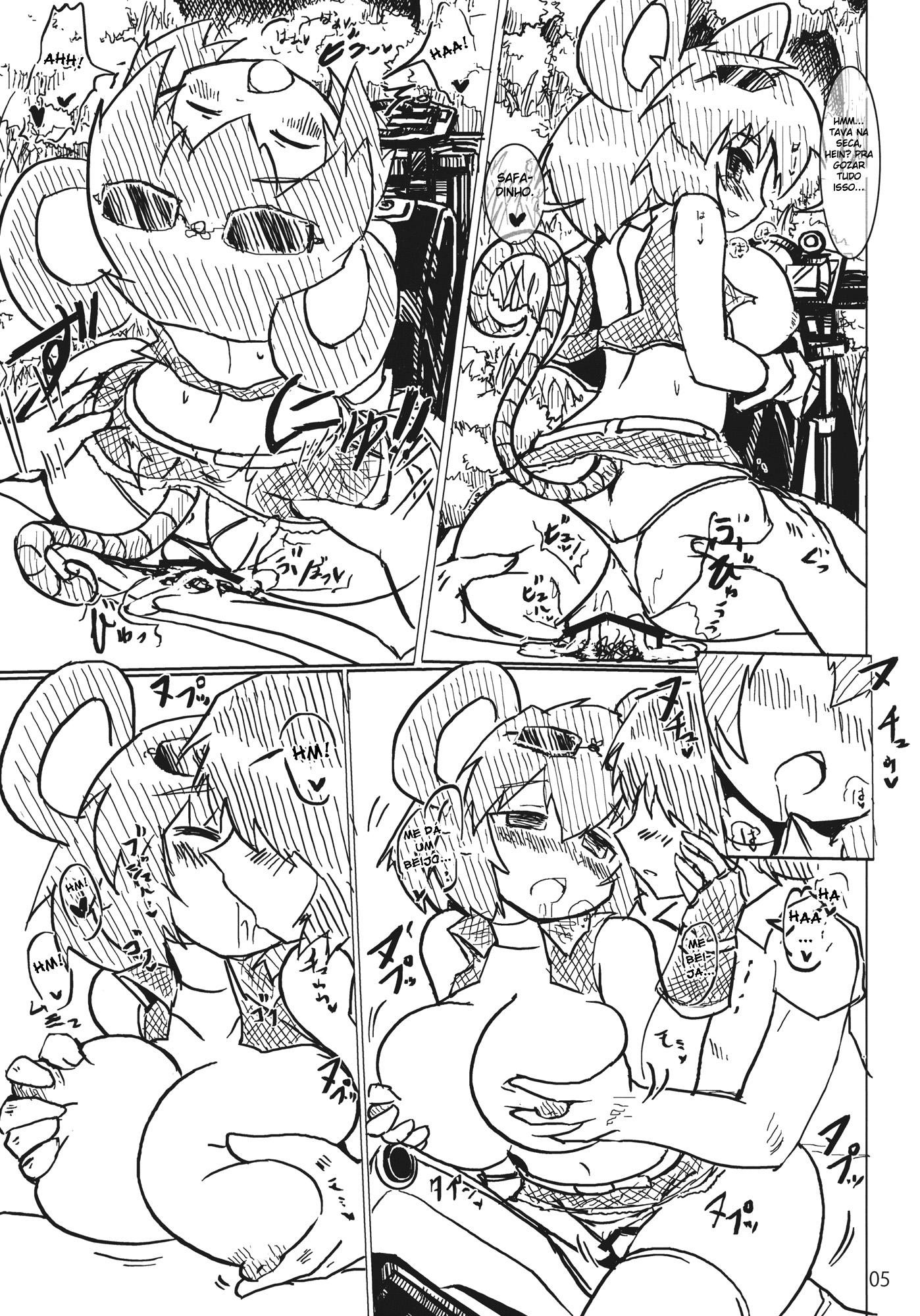 Touhou Project Hentai: A ratinha traiçoeira - Foto 5