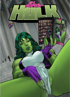 She-Hulk com tesão